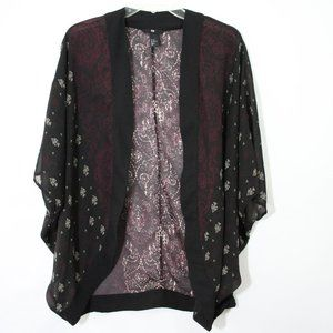 H&M Black Lightweight Sheer Cardigan Size 10